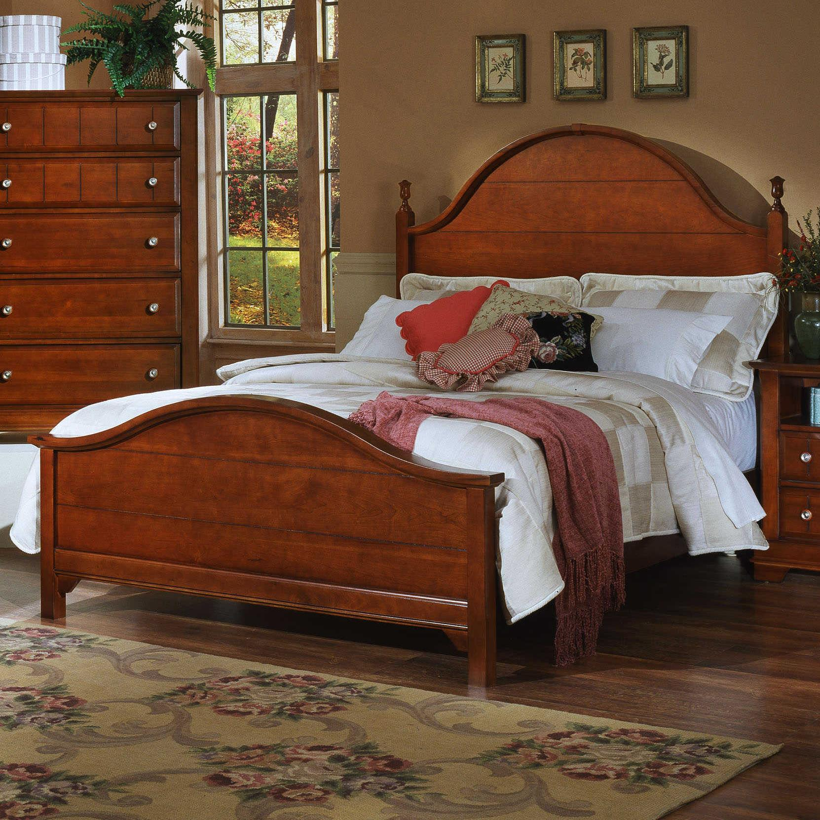 Vaughan Bassett Cottage Queen Panel Bed - Item Number: BB19-558+855+922