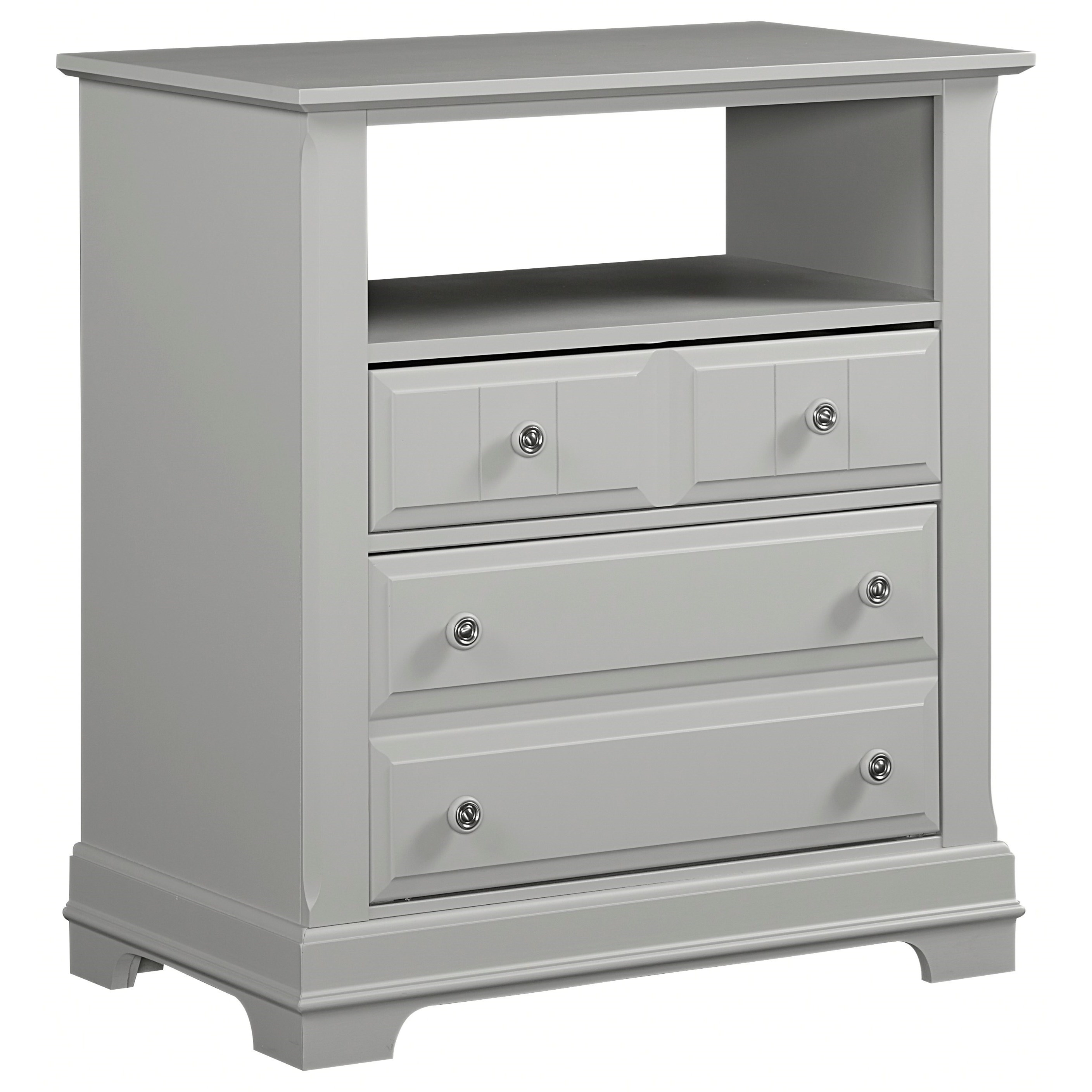 Media Cabinet - 2 Drawers, Open Shelf