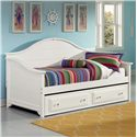 Vaughan Bassett Cottage Day Bed with Storage/Trundle Unit - Item Number: BB24-313B+L+R+N+A+T
