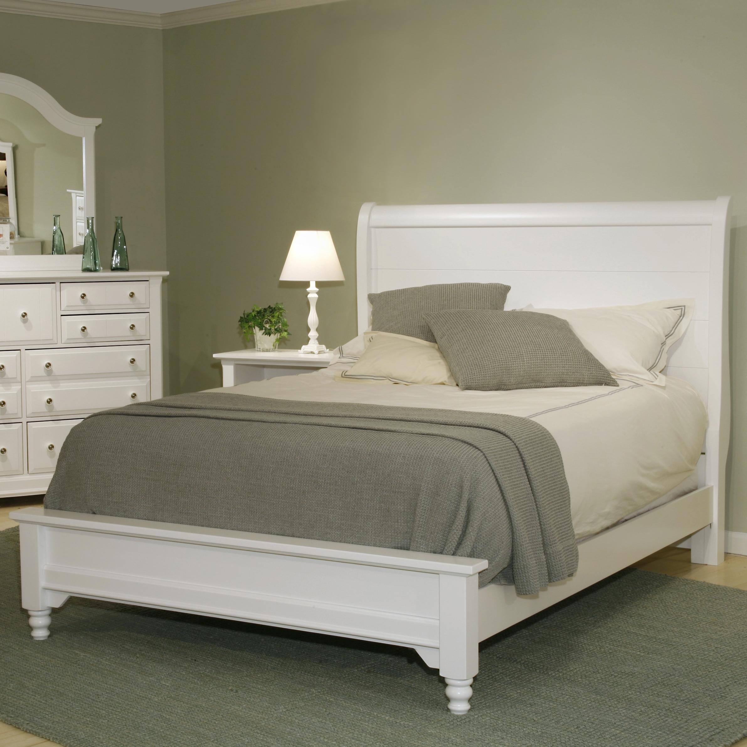 Vaughan Bassett Cottage Full Sleigh Bed w/ Low Footboard  - Item Number: BB24-441+144+911