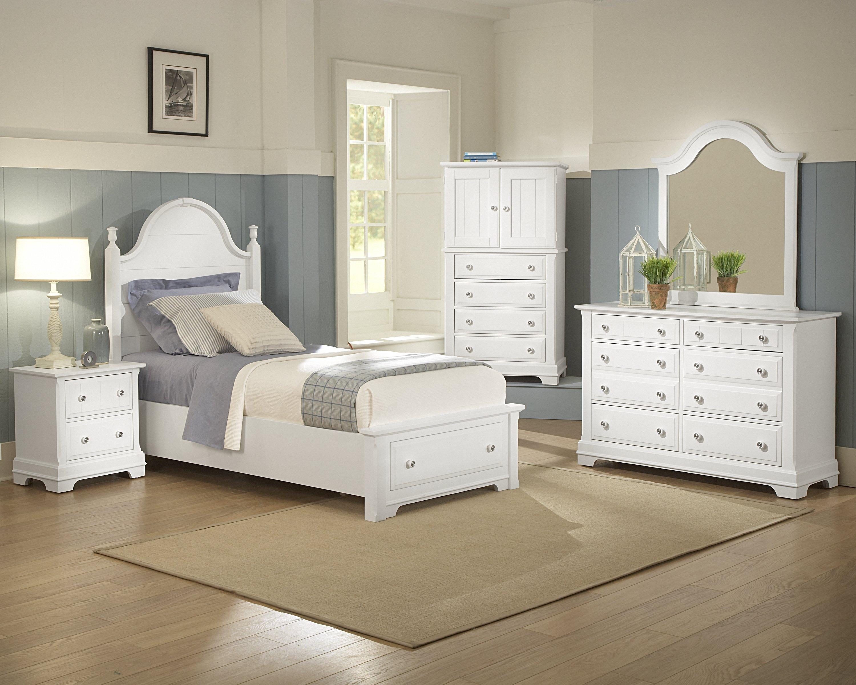 Vaughan Bassett Cottage Twin Panel Storage Bed Belfort Furniture Platform Beds Low Profile Beds