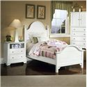 Vaughan Bassett Cottage Twin Panel Bed - Shown with Night Stand