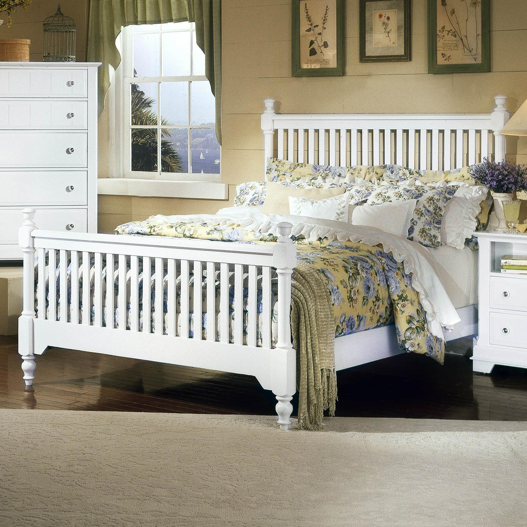Vaughan Bassett Cottage Full Slat Poster Bed - Item Number: BB24-556+655+911