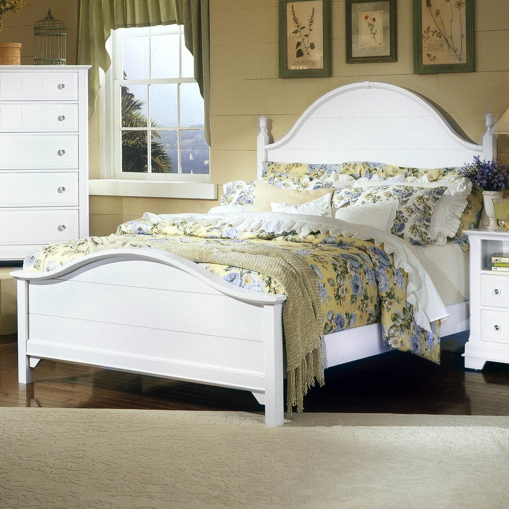 Vaughan Bassett Cottage Queen Panel Bed - Item Number: BB24-558+855+922