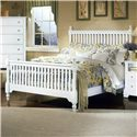 Vaughan Bassett Cottage King Slat Poster Bed - Item Number: BB24-667+766+933