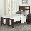 Vaughan Bassett Cottage Too Twin Panel Bed - Item Number: 70-338+900+833