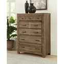 Vaughan Bassett Cottage Too Vintage Chest with Five Drawers