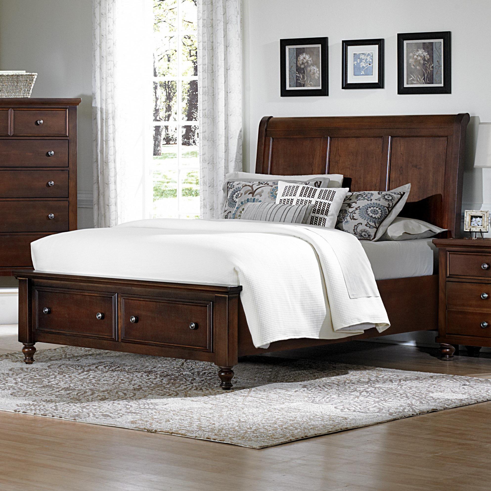 Vaughan Bassett Ellington Queen Sleigh Storage Bed - Item Number: 622-553+050B+502+555T