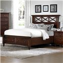 Vaughan Bassett Ellington Queen Garden Storage Bed with 2 Footboard Drawers - 622-558+050B+502+555T - Bed Shown May Not Represent Size Indicated