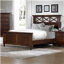 Vaughan Bassett Ellington California King Garden Bed with X-Detail Panel Headboard - 622-668+866+944+MS1 - Bed Shown May Not Represent Size Indicated