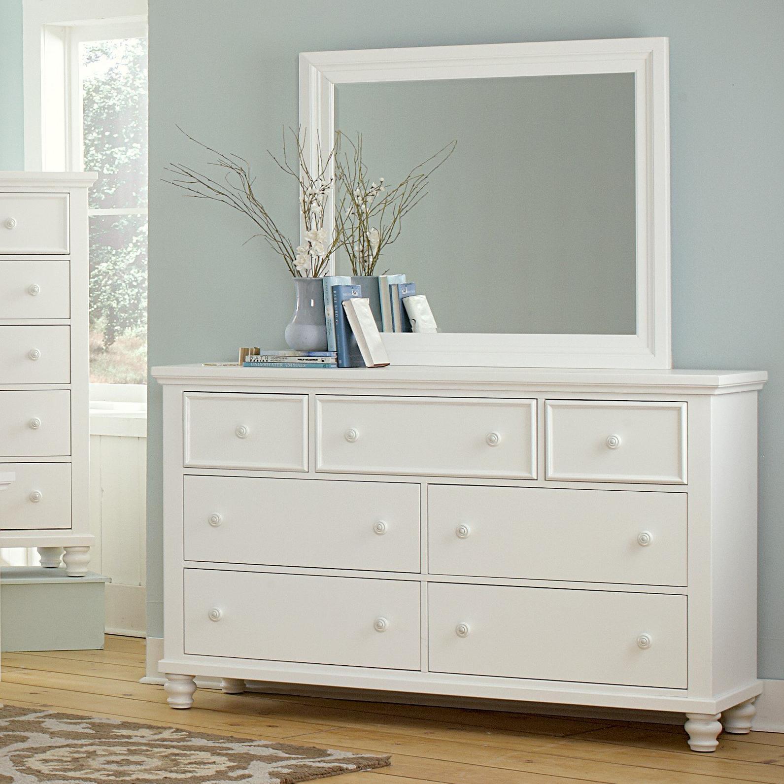 Vaughan Bassett Ellington Triple Dresser & Landscape Mirror - Item Number: 624-002+446