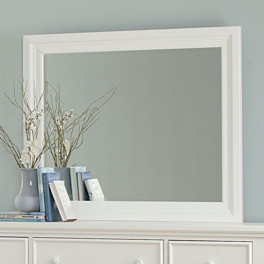 Vaughan Bassett Ellington Landscape Mirror - Bevel Glass - Item Number: 624-446