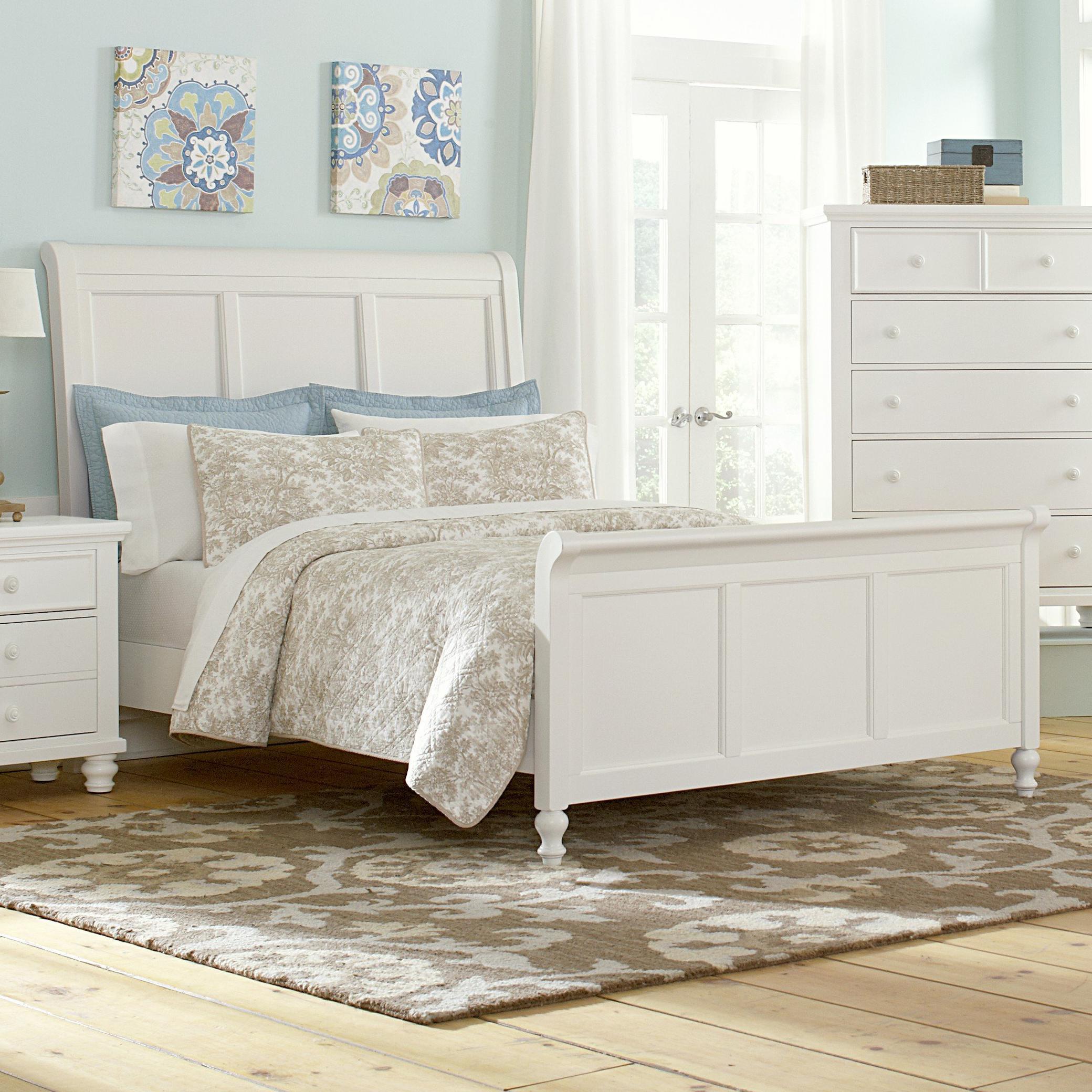 Vaughan Bassett Ellington Queen Sleigh Bed - Item Number: 624-553+355+922