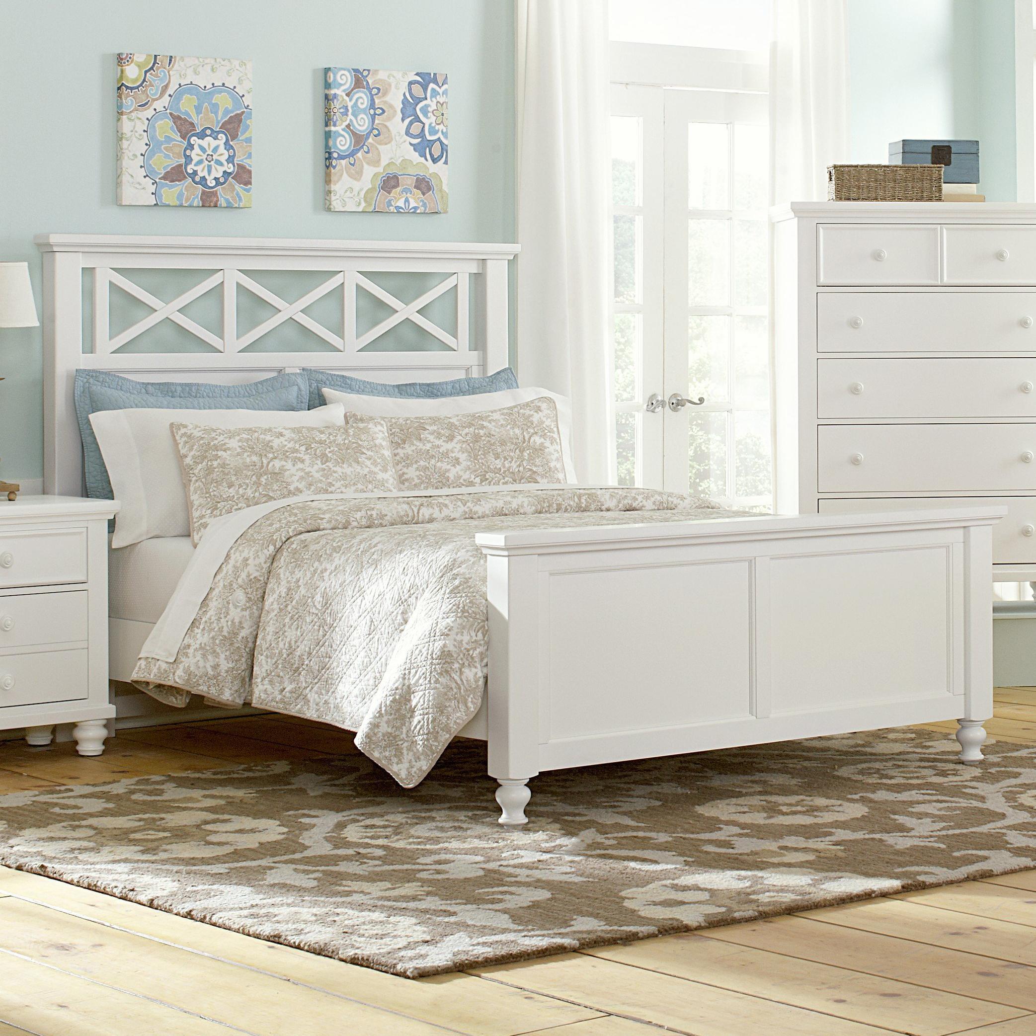 Vaughan Bassett Ellington Queen Garden Bed - Item Number: 624-558+855+922