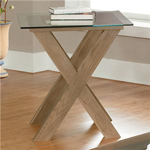 Vaughan Bassett Excalibur End Table with Glass Top