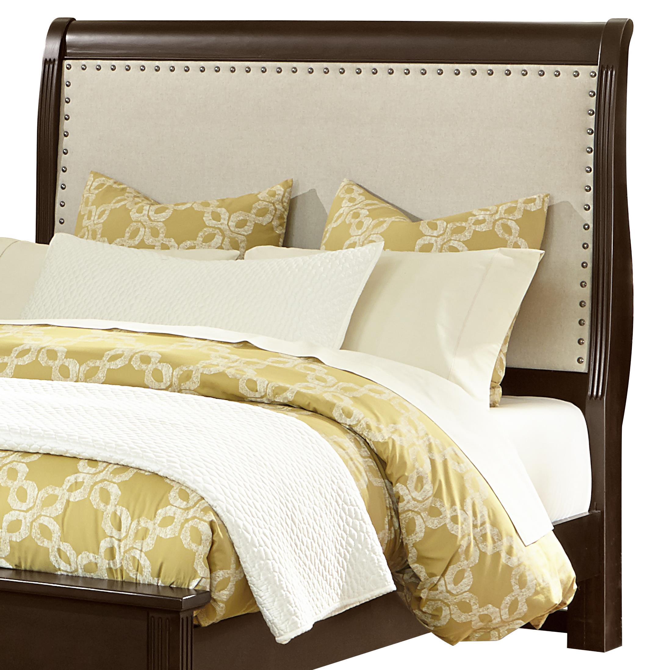 Vaughan Bassett French Market Twin Upholstered Headboard (Linen) - Item Number: 380-222