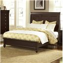 Vaughan Bassett French Market Queen Bed w/ Sleigh Headboard & Low Ftbd - Item Number: 380-551+355+922