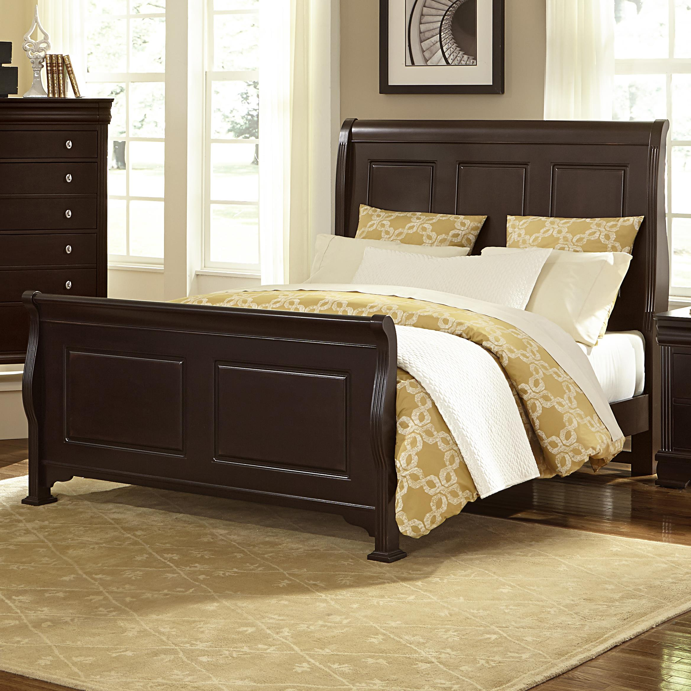 Vaughan Bassett French Market King Sleigh Bed - Item Number: 380-661+166+922+MS1