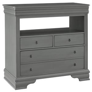 Vaughan Bassett French Market Media Chest - 3 Drawers
