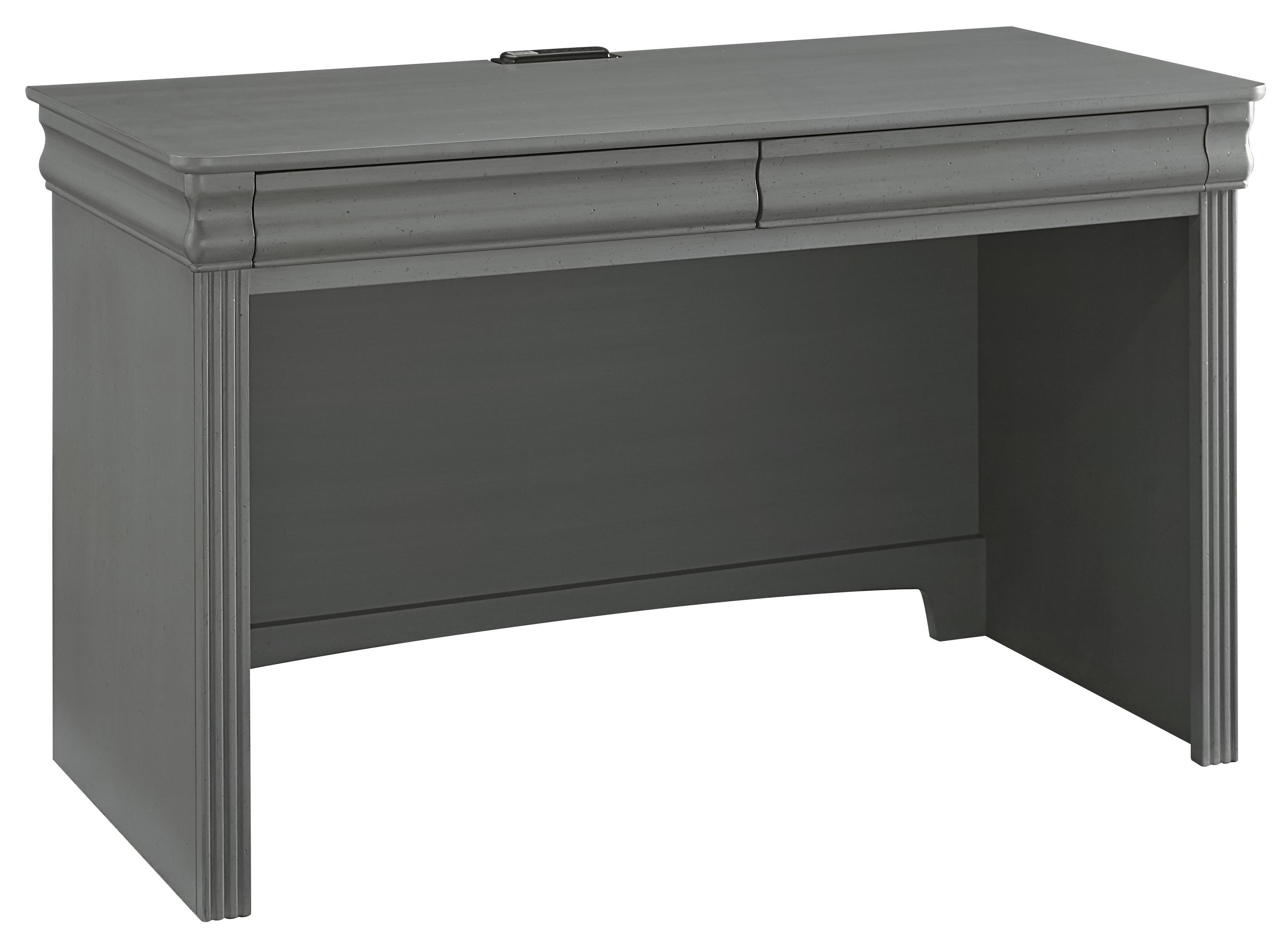 Vaughan Bassett French Market Laptop/Tablet Desk - 2 Drawers & Power Pack - Item Number: 381-778