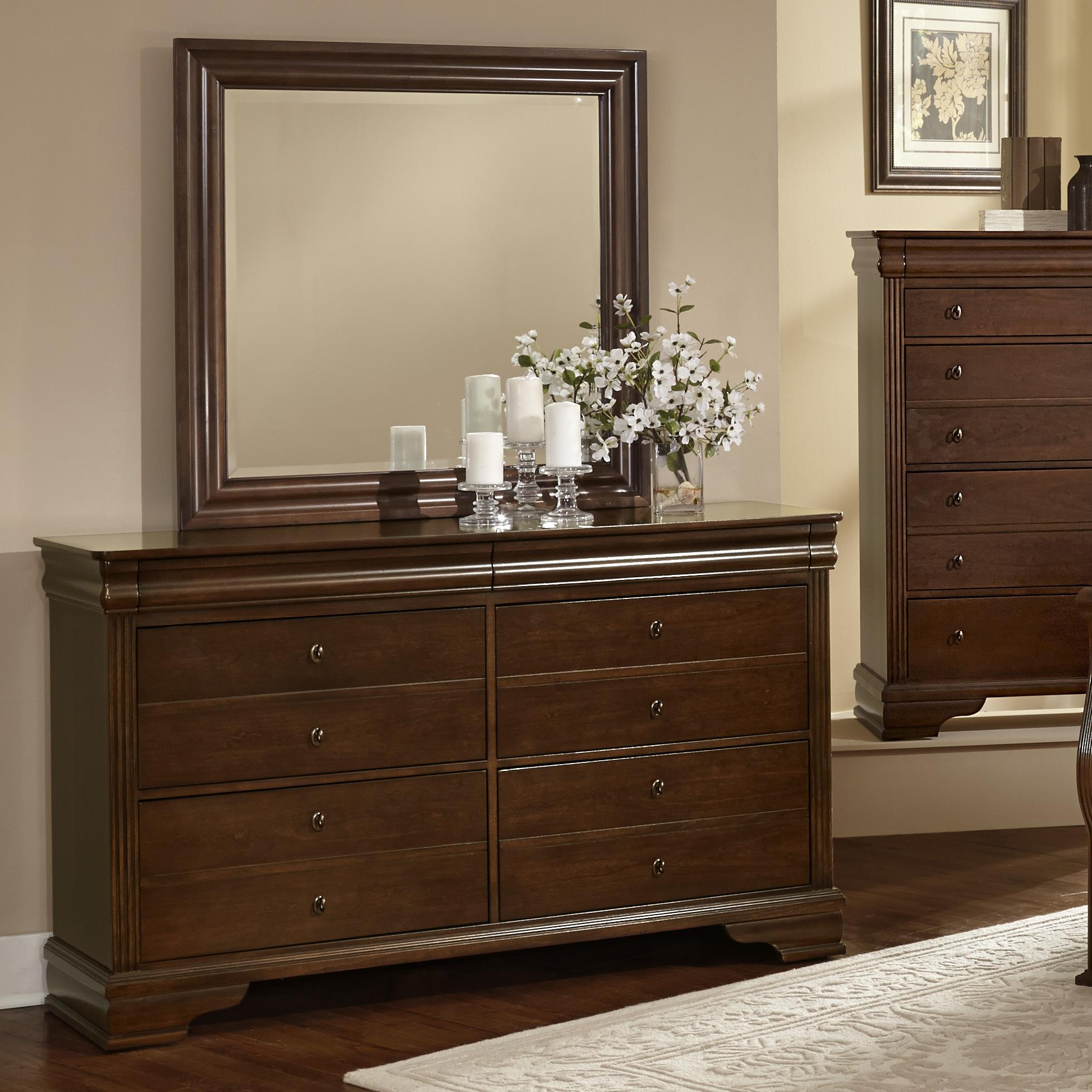 Vaughan Bassett French Market Dresser & Landscape Mirror - Item Number: 382-002+446