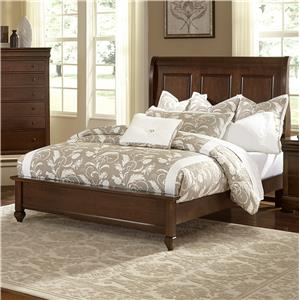 Vaughan Bassett French Market King Bed w/ Sleigh Headboard & Low Ftbd