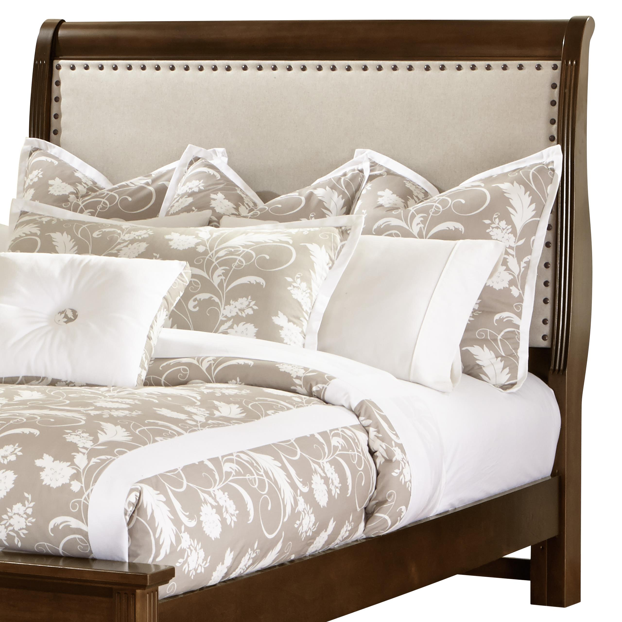 King Upholstered Headboard (Linen)