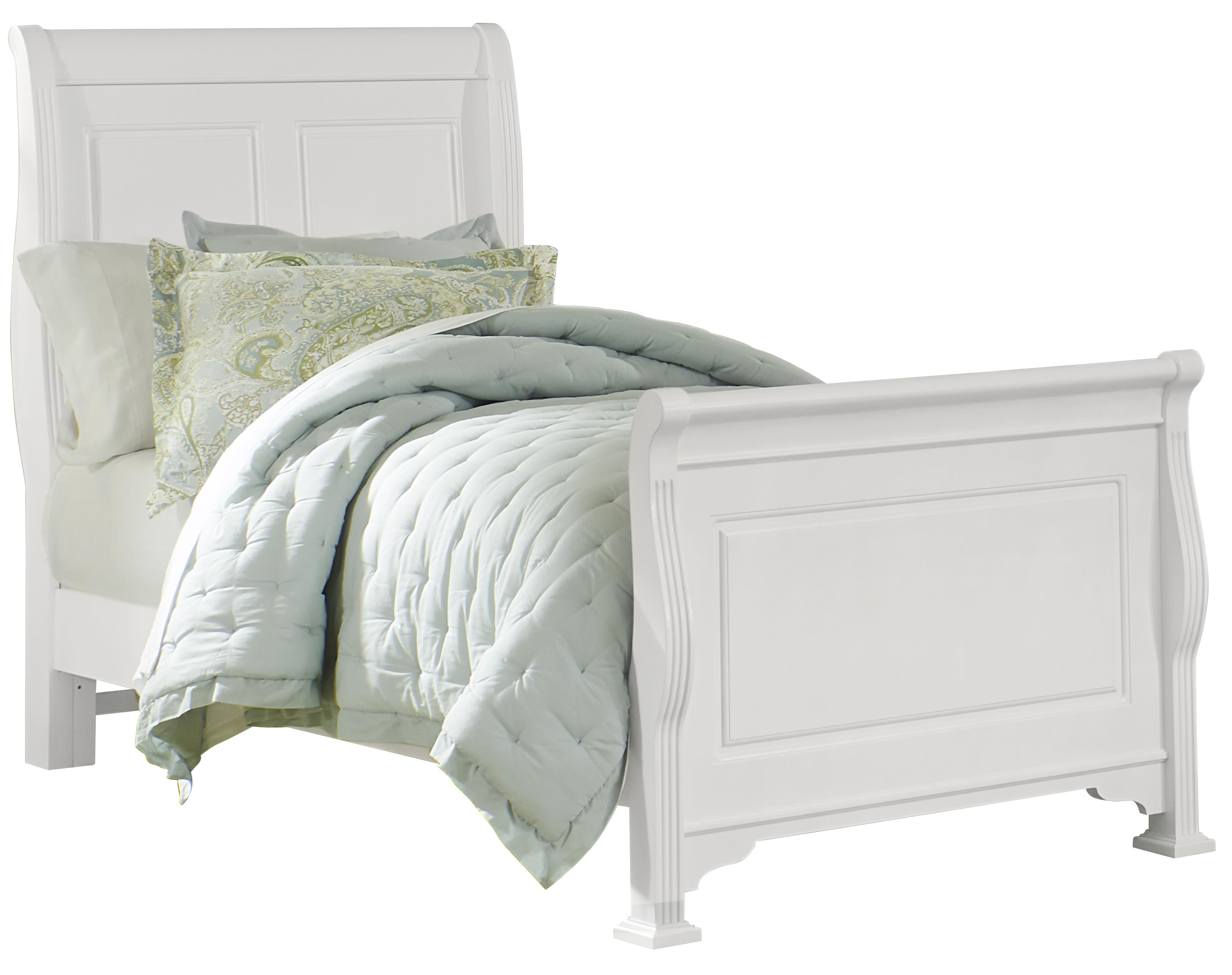 Vaughan Bassett French Market Twin Sleigh Bed - Item Number: 384-331+133+900