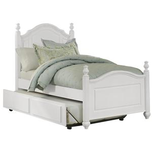 Vaughan Bassett French Market Twin Poster Bed with Trundle
