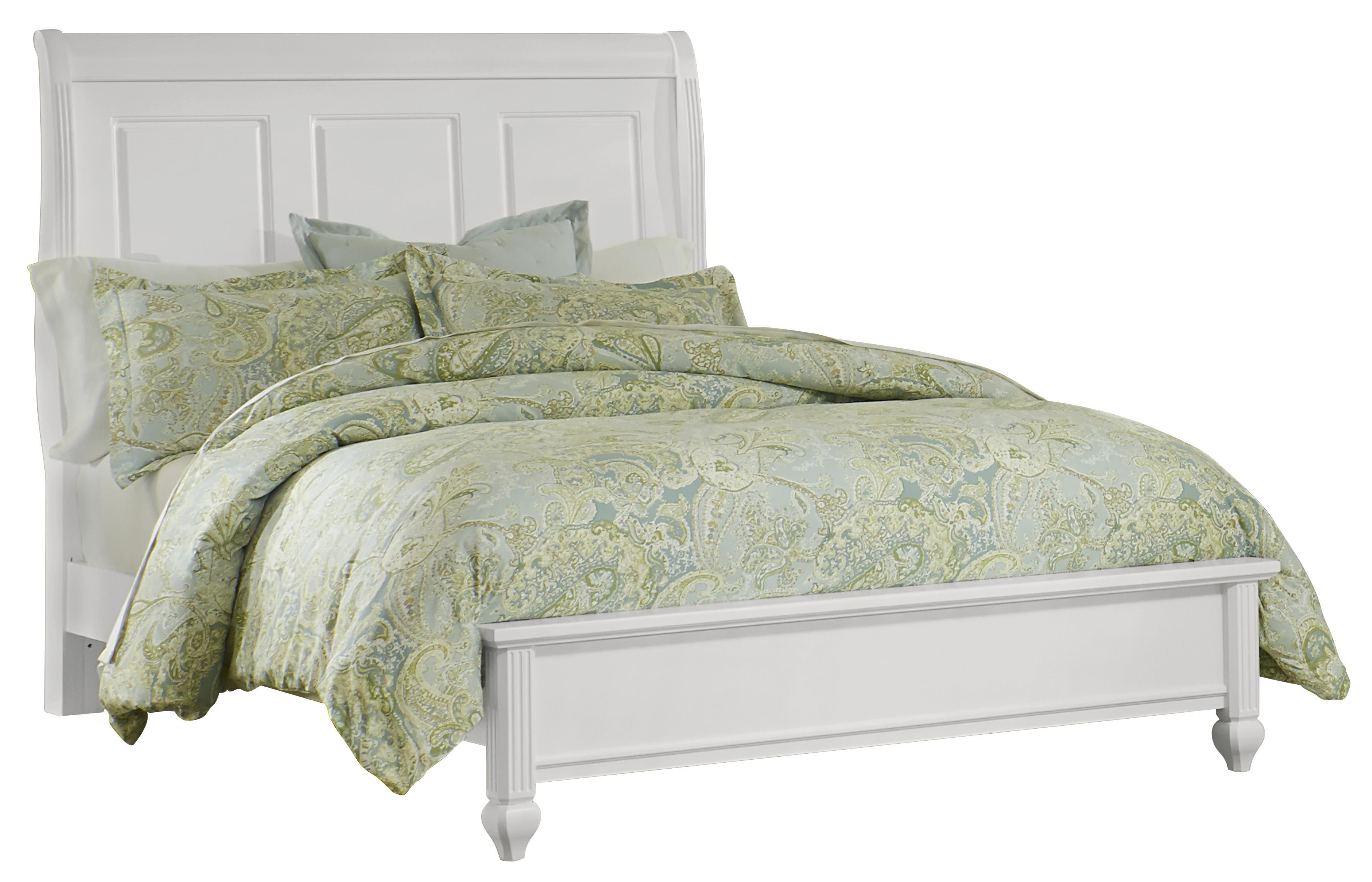 Vaughan Bassett French Market Queen Bed w/ Sleigh Headboard & Low Ftbd - Item Number: 384-551+355+922