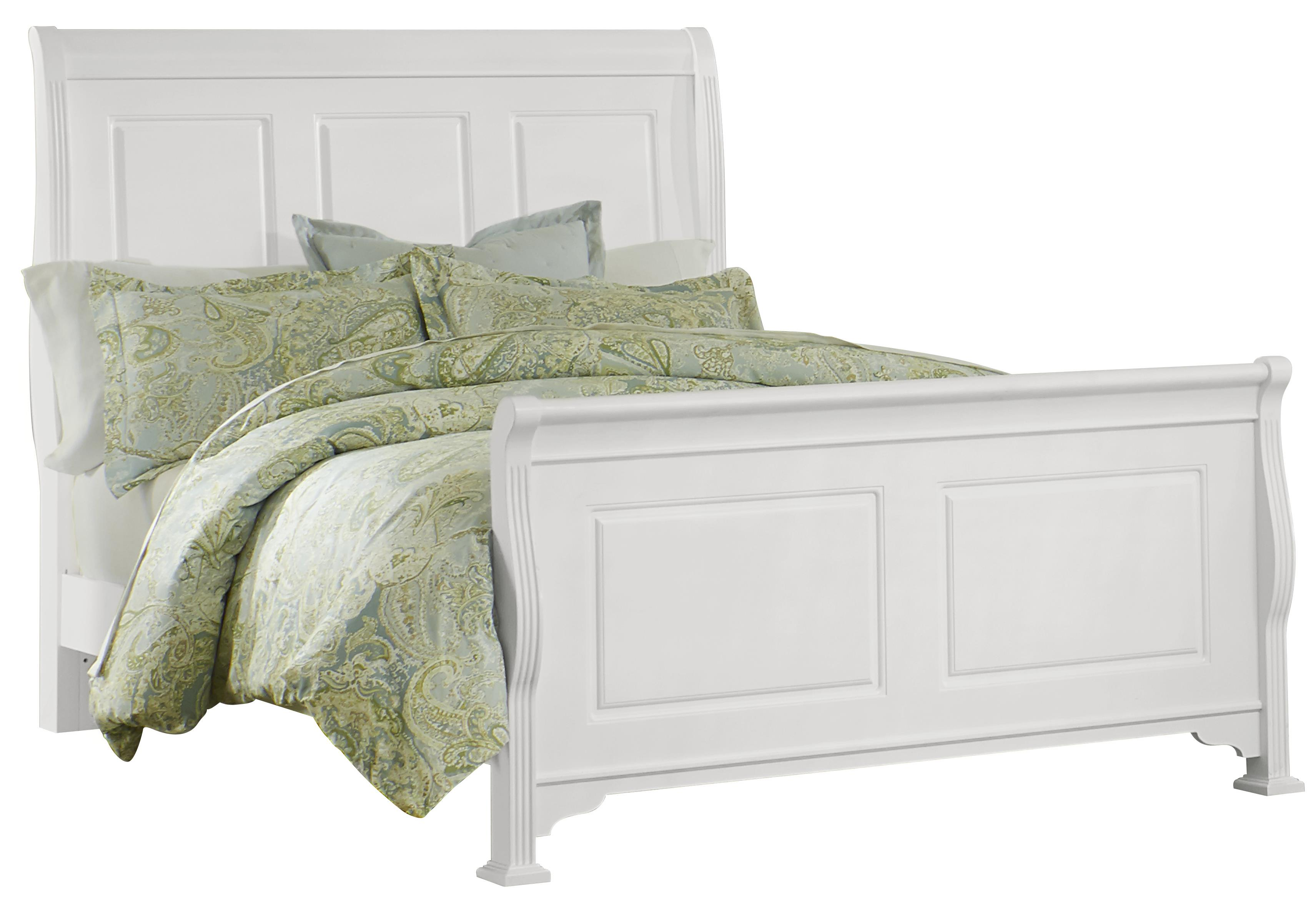 Vaughan Bassett French Market Queen Sleigh Bed - Item Number: 384-551+155+922