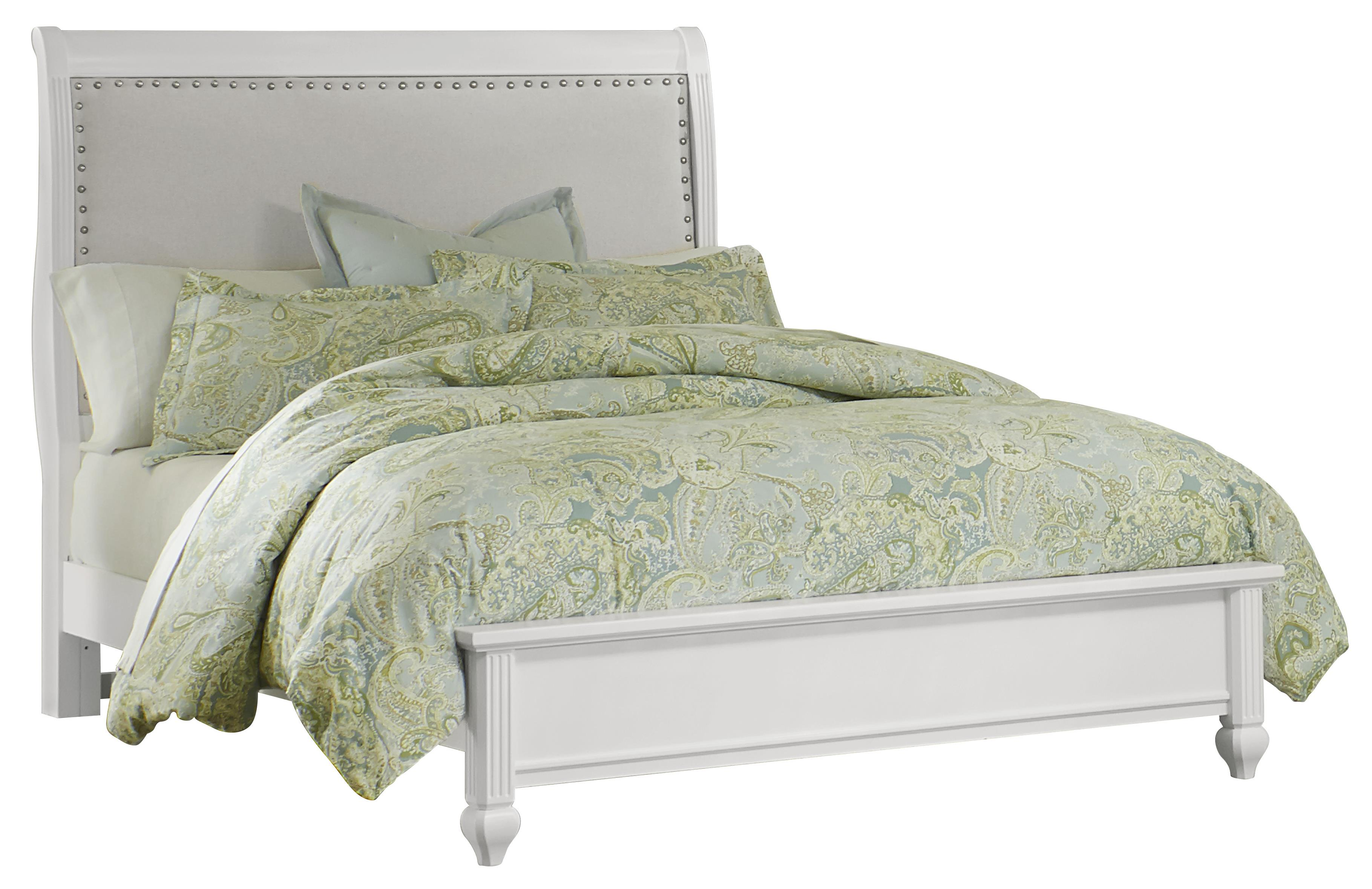 Vaughan Bassett French Market Full Bed w/ Upholstered Headboard - Item Number: 384-333+344+911