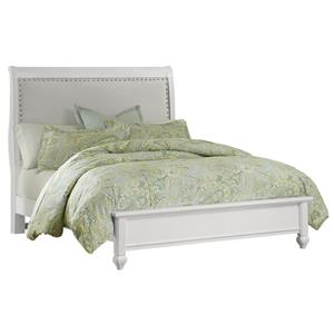 Vaughan Bassett French Market Queen Bed w/ Upholstered Headboard