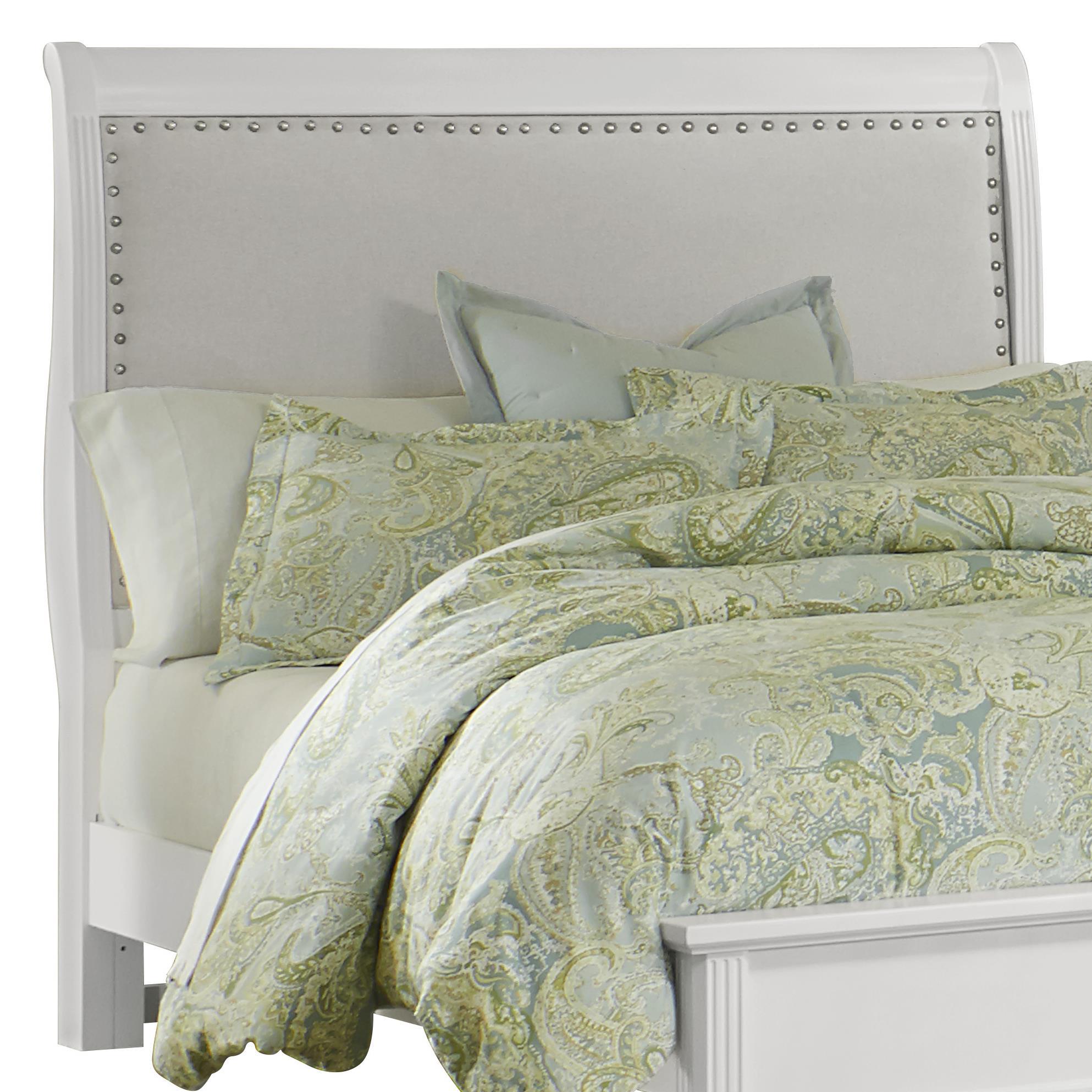 Vaughan Bassett French Market Queen Upholstered Headboard (Linen) - Item Number: 384-553