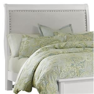 King Upholstered Headboard (Linen)