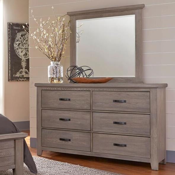 Vaughan Bassett Cassell Park Dresser and Mirror - Item Number: 516-002+446