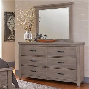 Vaughan Bassett Gramercy Park Dresser and Mirror
