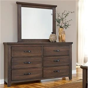 Vaughan Bassett Cassell Park Dresser and Mirror