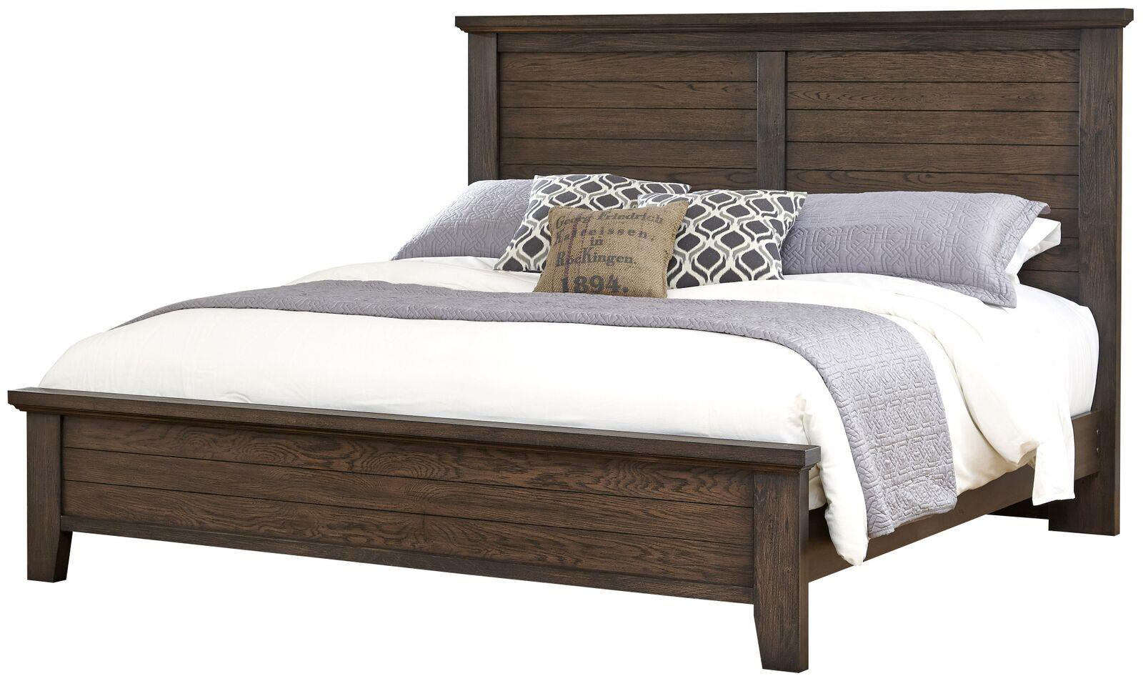 Vaughan Bassett Cassell Park Queen Plank Bed - Item Number: 518-558+855+922
