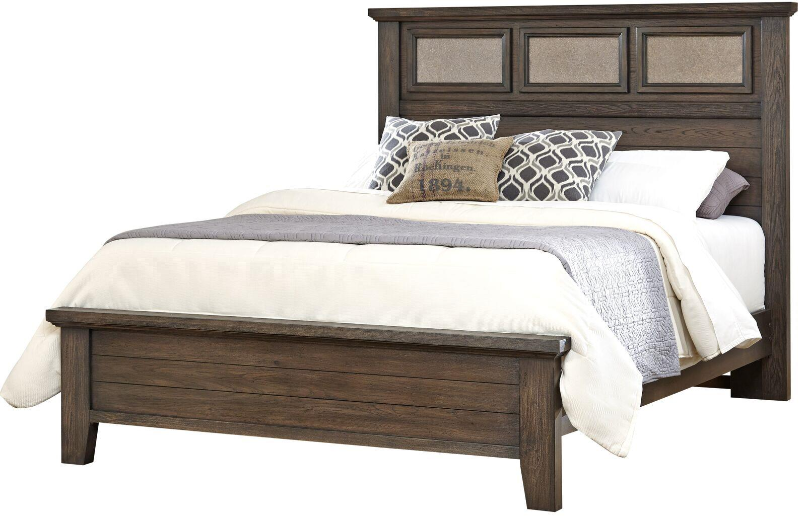 Vaughan Bassett Cassell Park Queen Tile Bed - Item Number: 518-559+855+922
