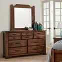 Vaughan Bassett Grayson Manor Dresser and Mirror Set - Item Number: 192-003+448