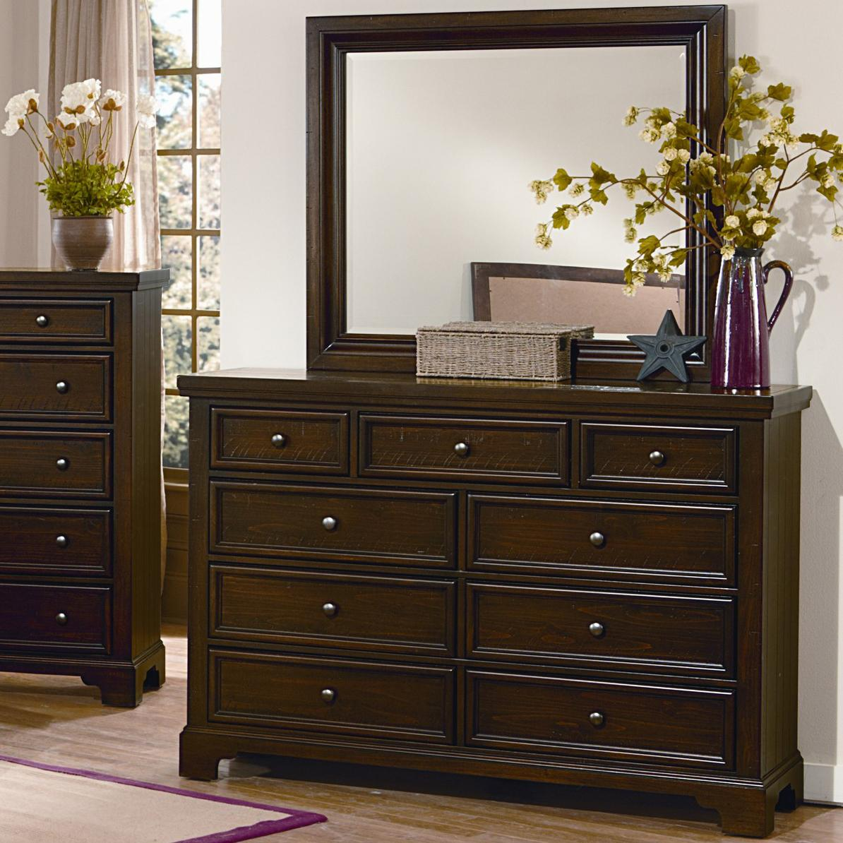 Vaughan Bassett Hanover Chesser & Mirror Set - Item Number: 810-003+446
