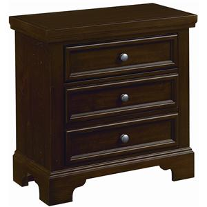 Vaughan Bassett Hanover Night Stand - 2 Drawers w/ Light