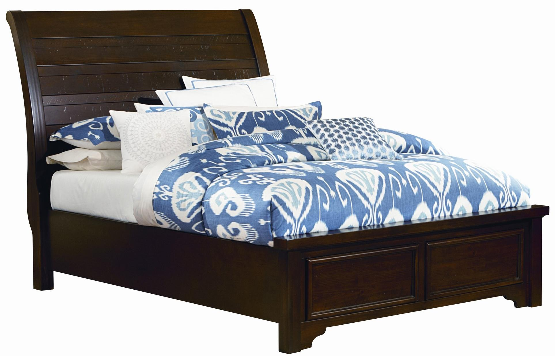 Vaughan Bassett Hanover Full Sleigh Low Profile Bed - Item Number: 810-522+144+711