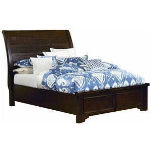 Vaughan Bassett Hanover Queen Sleigh Low Profile Bed