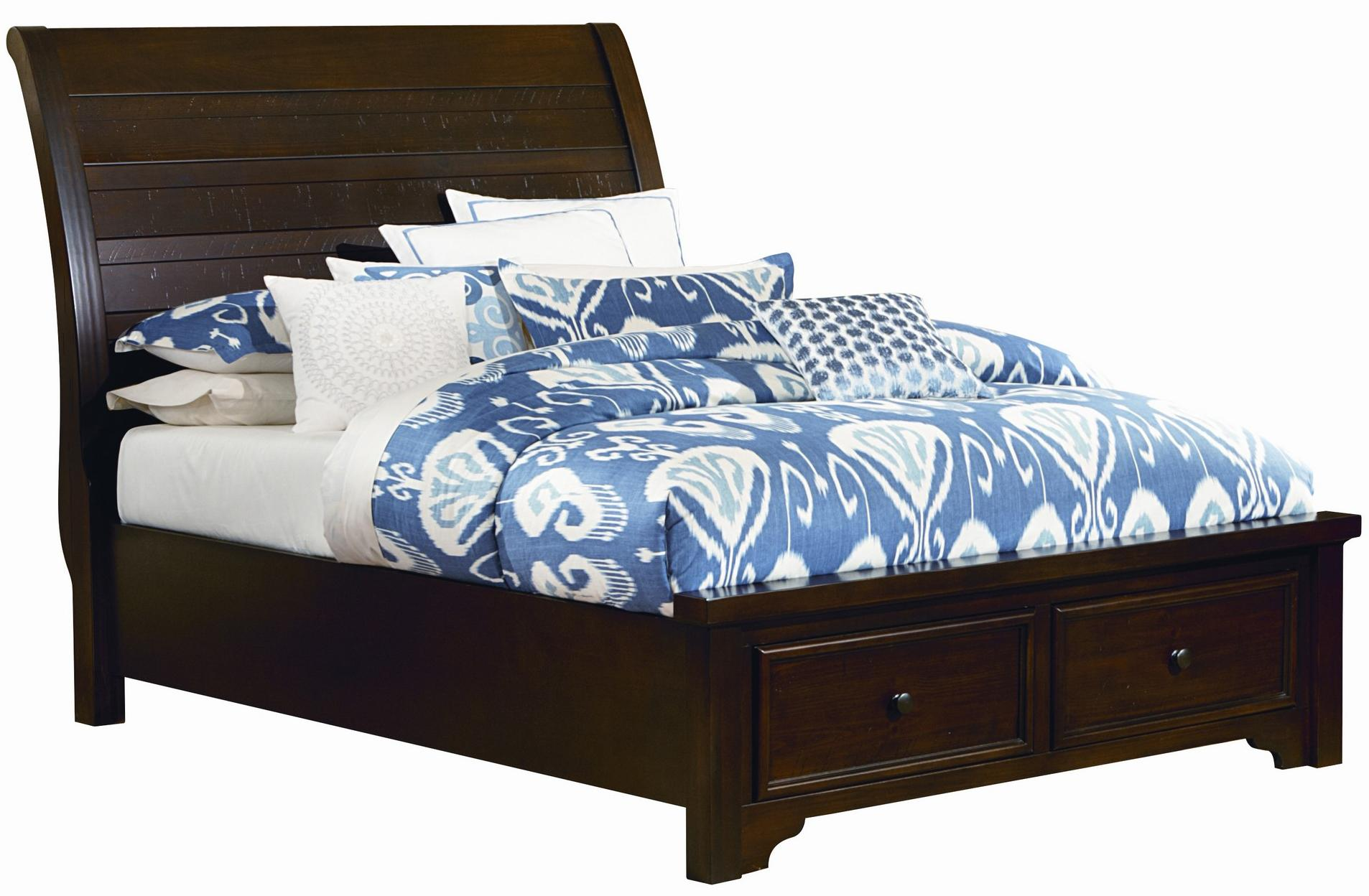 Vaughan Bassett Hanover Queen Sleigh Strorage Bed - Item Number: 810-553+050B+502+555T