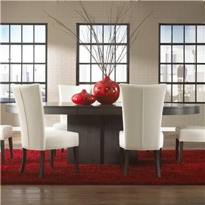 Canadel High Style - Custom Dining <b>Customizable</b> Oval Table with Pedestal