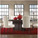 Canadel High Style - Custom Dining <b>Customizable</b> Oval Table with Pedestal - Item Number: TAB046965959MMW6F
