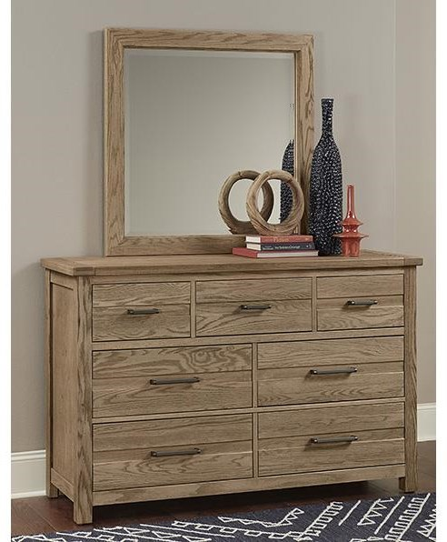 Highland 7 Drawer Dresser and Landscape Mirror by Vaughan Bassett at Johnny Janosik
