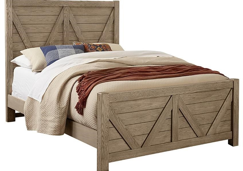 Highland King V Panel Bed by Vaughan Bassett at Johnny Janosik